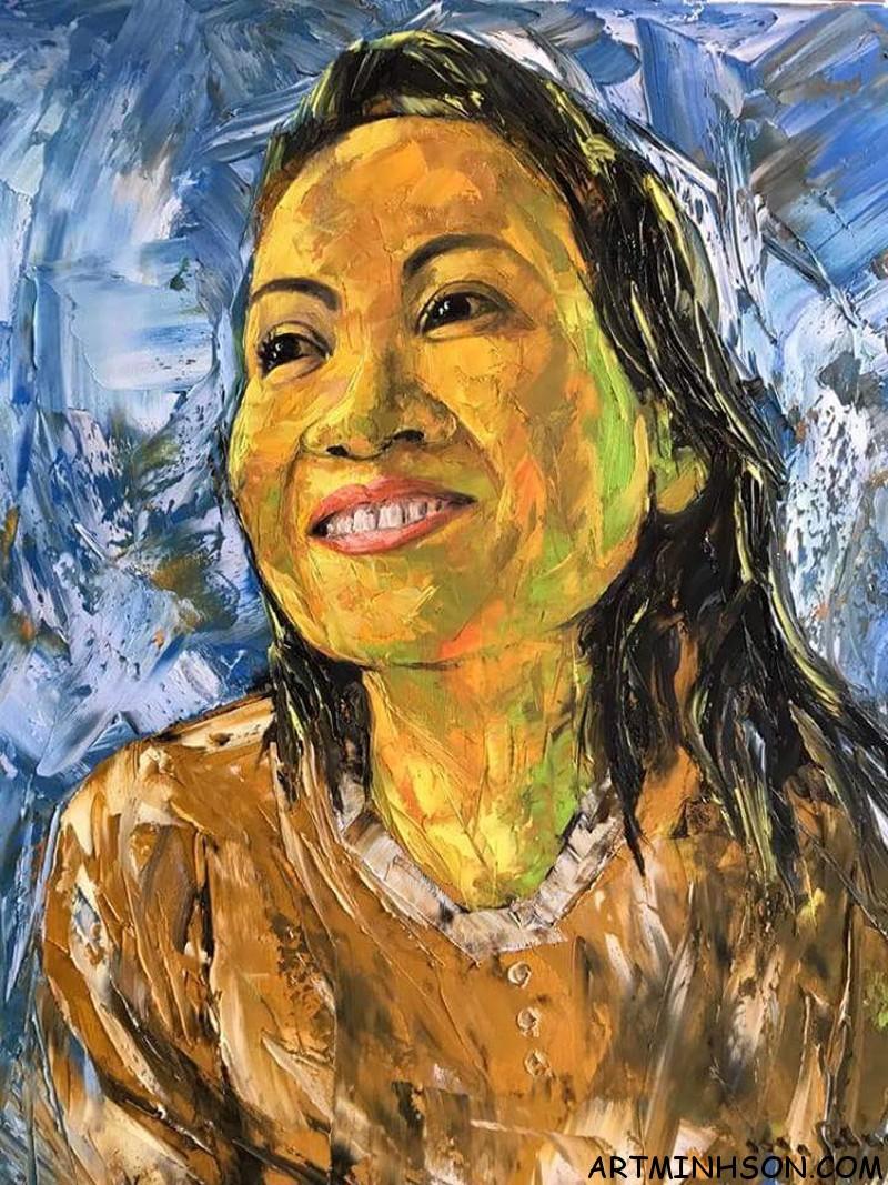 Tranh sơn dầu chân dung - Họa sĩ Nguyễn Minh Sơn