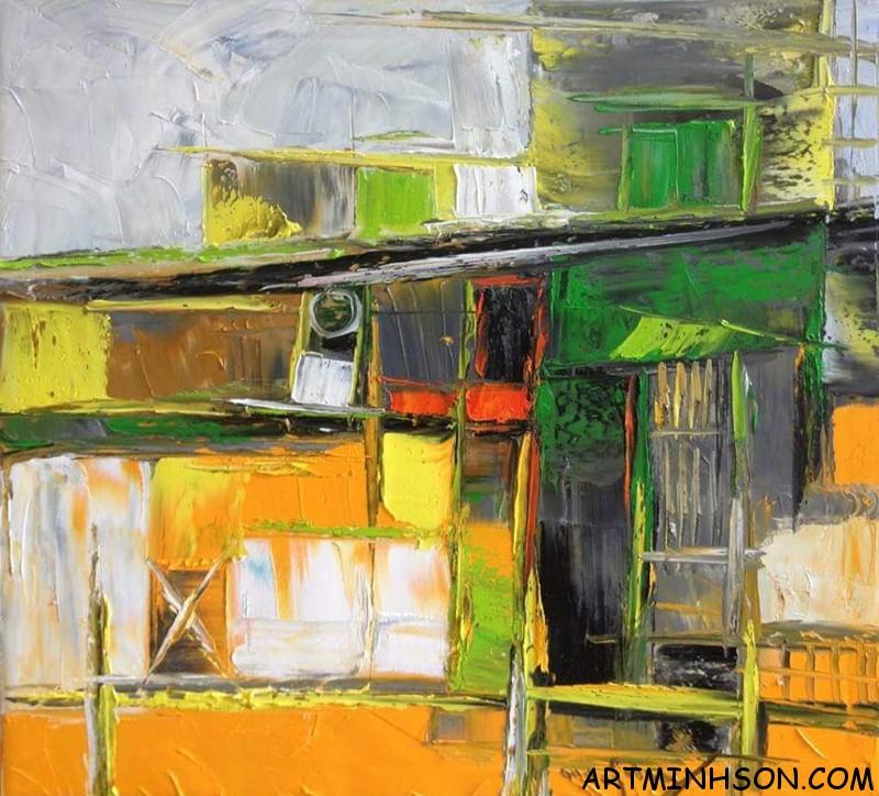 Tranh sơn dầu tĩnh vật - Họa sĩ Nguyễn Minh Sơn