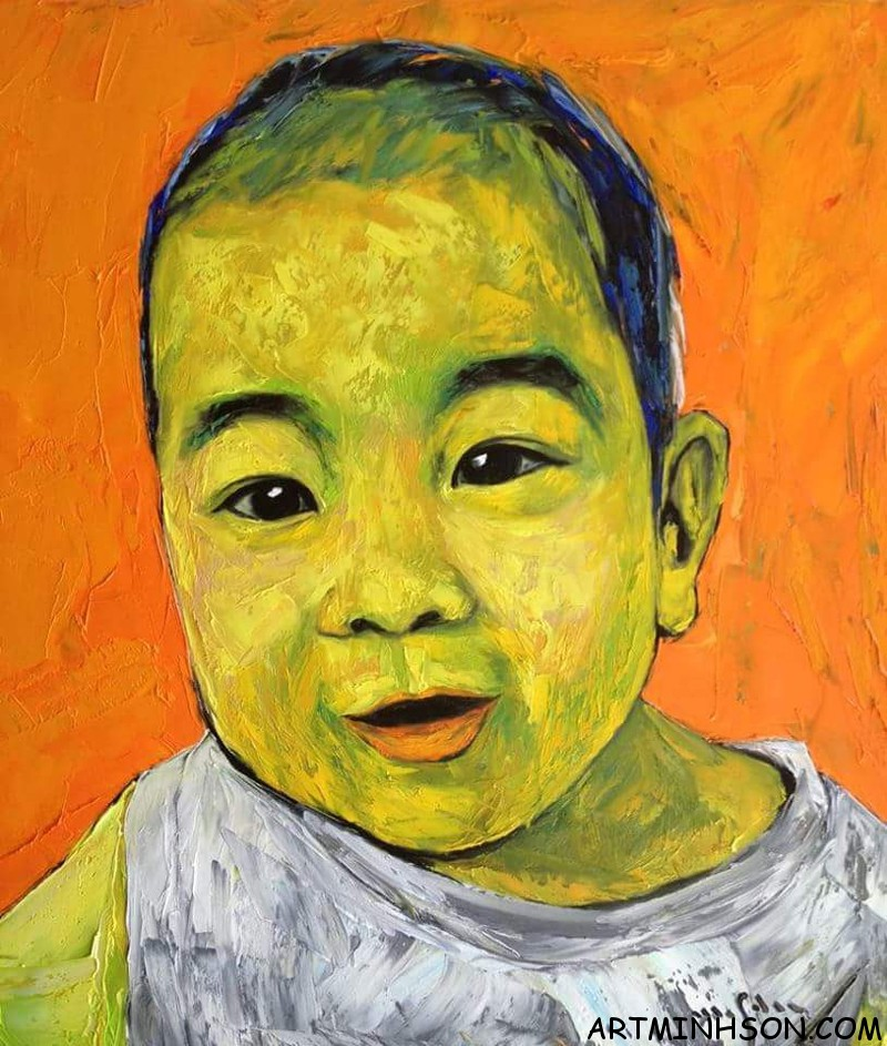 Oil painting portrait - Nguyen Minh Son Artist