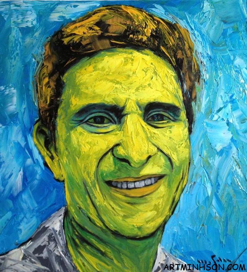 Oil painting portrait - Nguyen Minh Son Artist